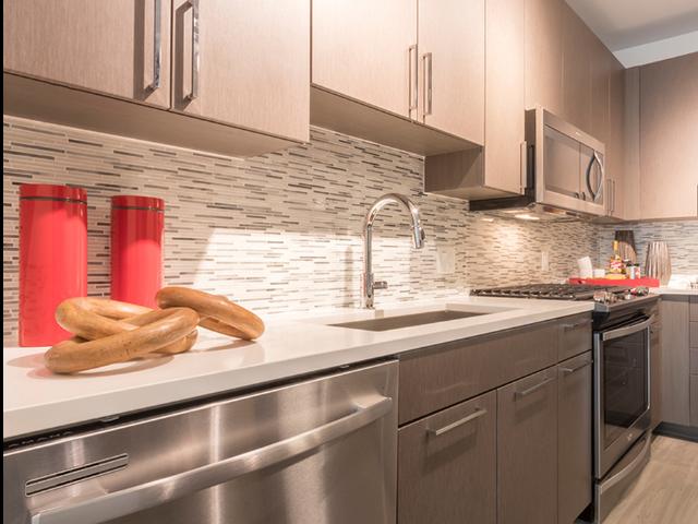 Under cabinet lighting in kitchen