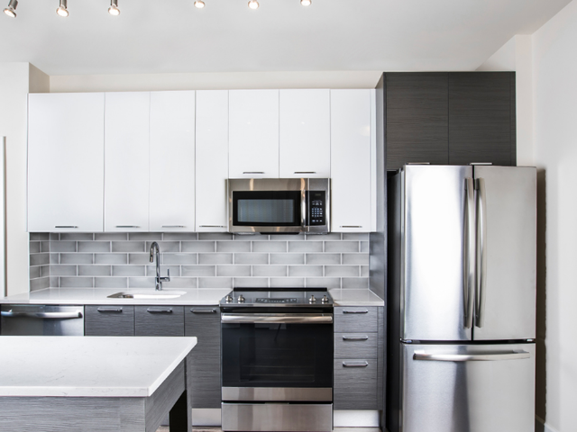 Modern cabinetry in the kitchen
