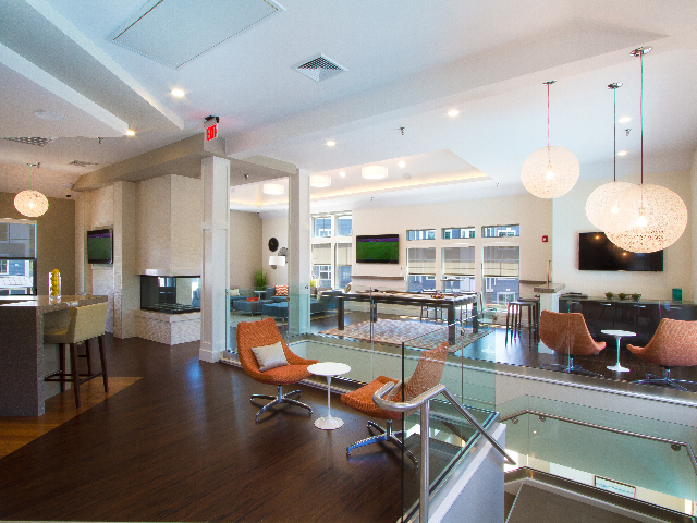 Social seating in resident lounge