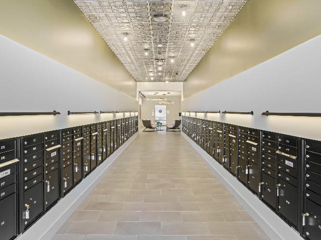 Mail room image at Modera Framingham