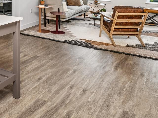 Wood-vinyl plank flooring