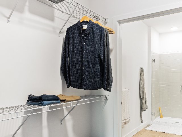 Walk-in closet at Modera Framingham image