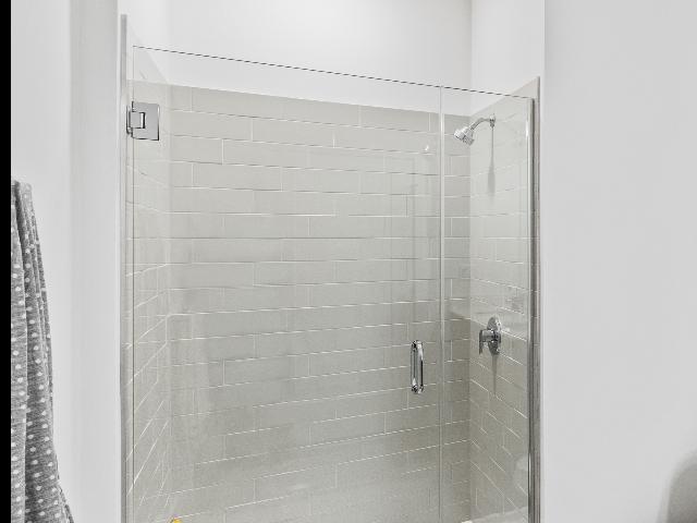 Glass-encolsed shower image