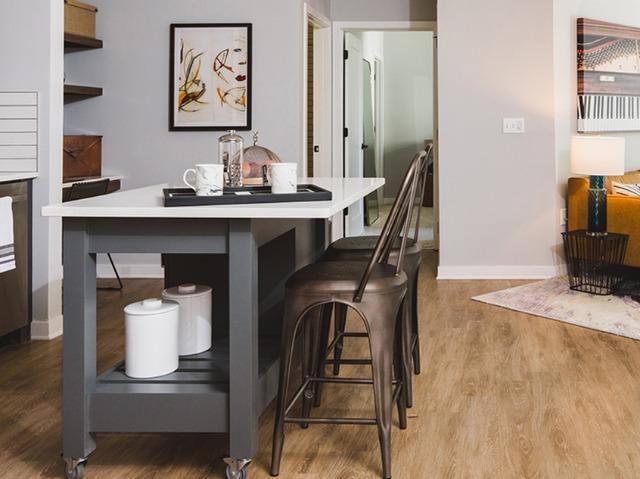 Moveable kitchen island image