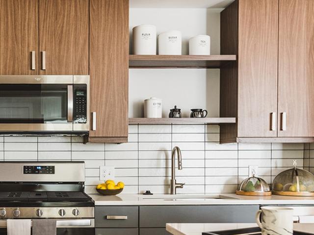 Custom kitchen shelves image
