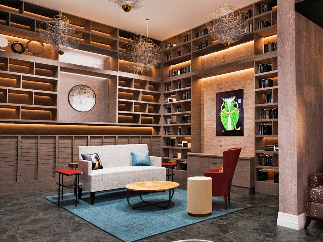 Library room at Verso Founders Row