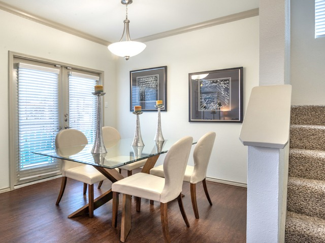 Separate dining area or work from home space