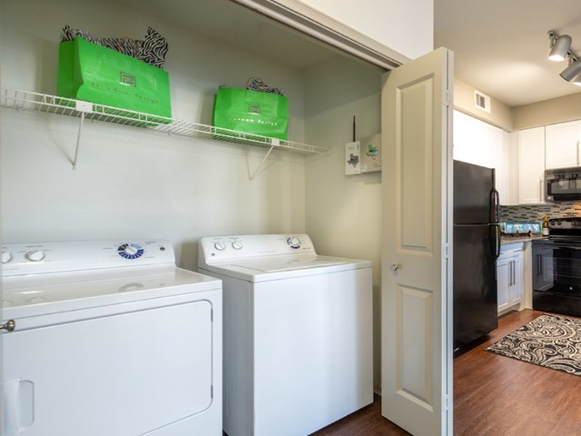 In home washer and dryer in select homes