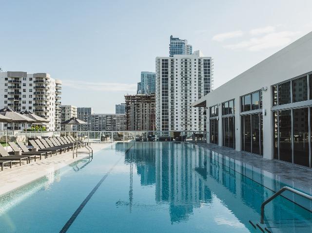 Rooftop lap pool