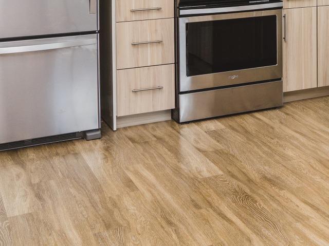 Vinyl plank flooring in common areas