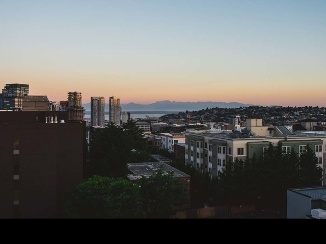Mountain views from Modera Broadway