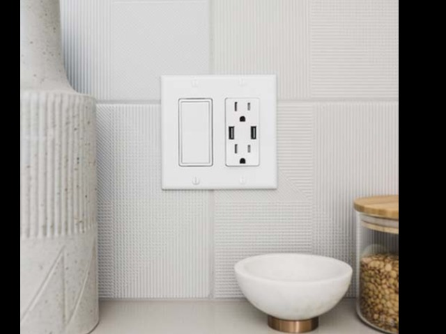 USB outlet in a kitchen