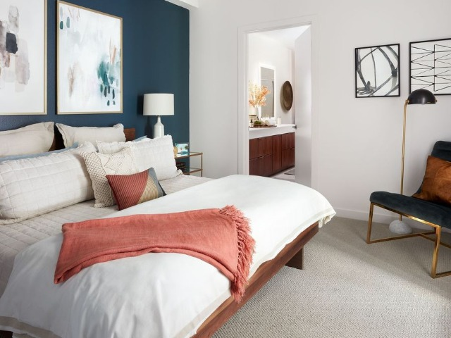 Image of carpet in bedroom