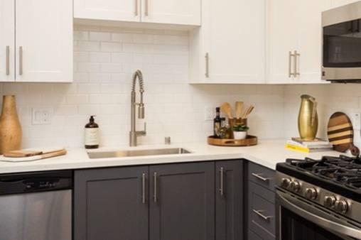 Quartz Counter and Tile Backsplash