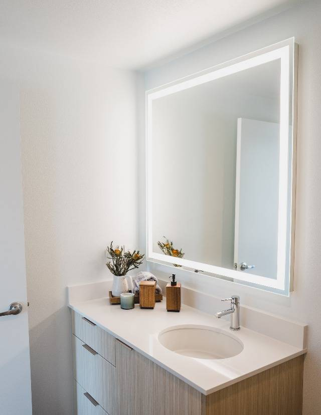 Feel inspired with LED backlit vanities*