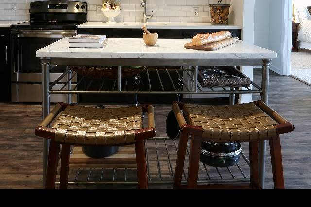 Movable kitchen island for functionality
