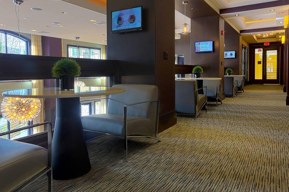 Bistro lounge overlooking clubroom