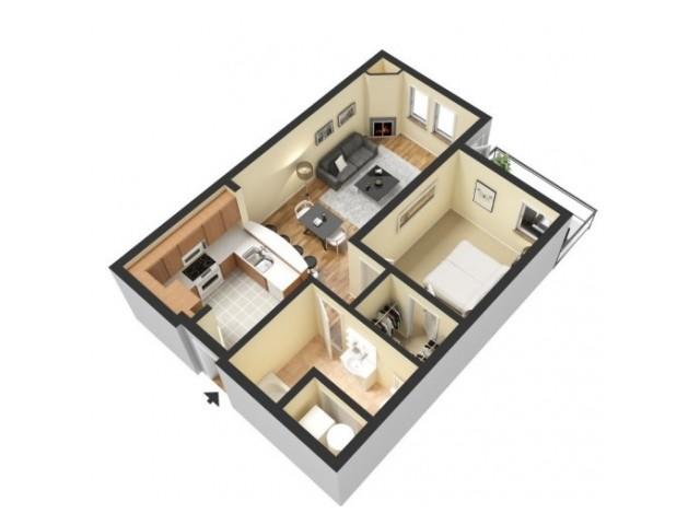 Floor Plan 1 | Kansas City Apartments | 45 Madison