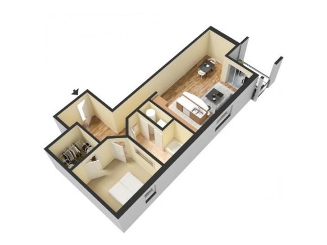Floor Plan 2 | Kansas City Apartment | 45 Madison