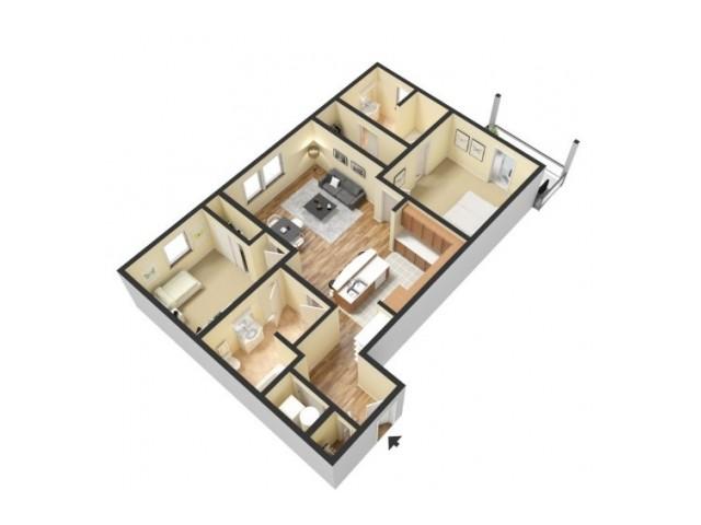 Floor Plan 5 | Apartments Kansas City Missouri | 45 Madison