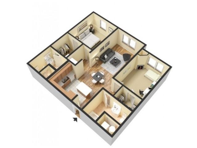 Floor Plan 6 | Kansas City Apartments | 45 Madison