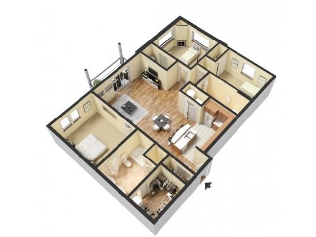 Floor Plan 9 | Kansas City Missouri Apartments | 45 Madison