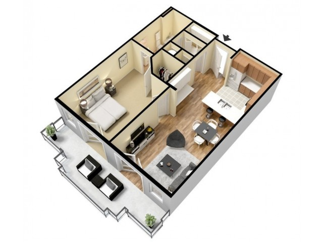 Floor Plan 4 | Apartments Kansas City | Prairie View at Village West