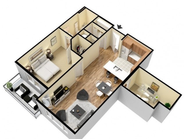 Floor Plan 5 | Kansas City Apartments | Prairie View at Village West