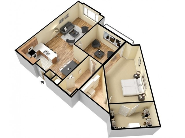 Floor Plan 7 | Apartments For Rent In Kansas City Kansas | Prairie View at Village West
