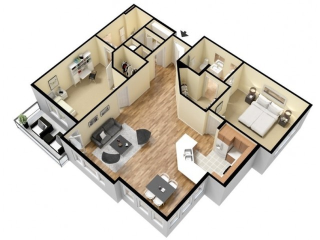 Floor Plan 15 | Kansas City Apartments | Prairie View at Village West