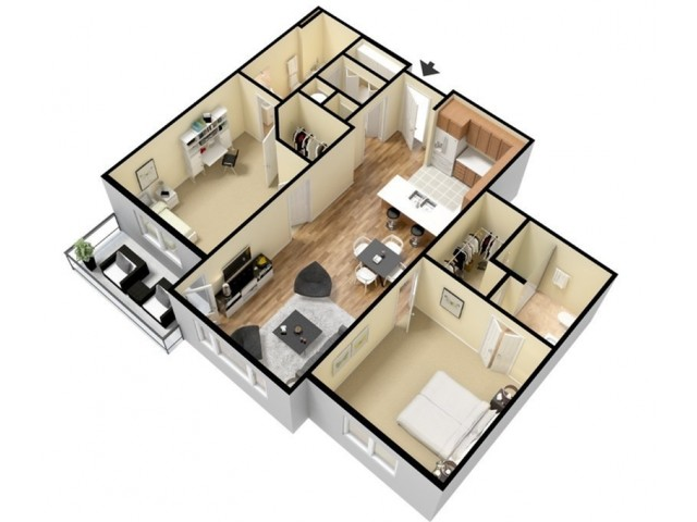 Floor Plan 16 | Luxury Apartments Kansas City KS | Prairie View at Village West