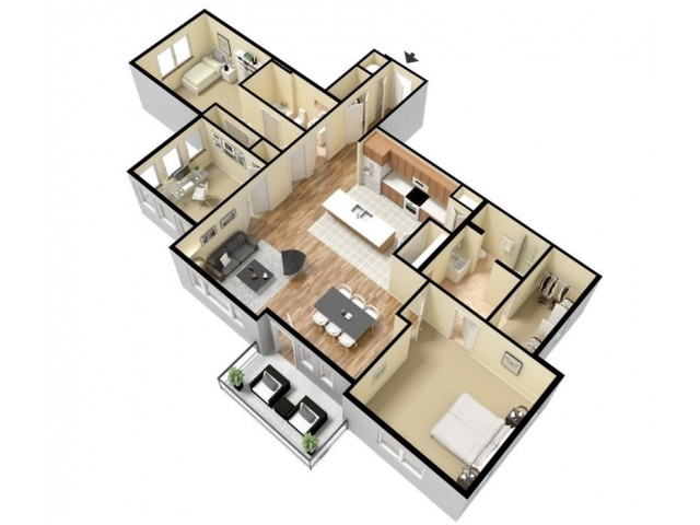 Floor Plan 17 | Apartments For Rent In Kansas City Kansas | Prairie View at Village West