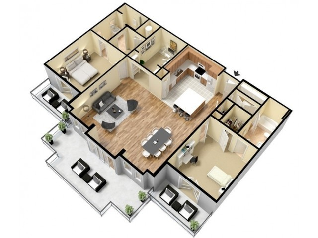 Floor Plan 19 | Apartments Kansas City | Prairie View at Village West