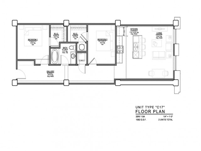 1 Bedroom Floor Plan | Luxury Apartments In Kansas City Missouri | The PowerLight Building
