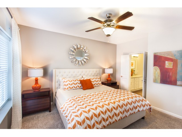 Elegant Bedroom | Kansas City Apartments | Prairie View at Village West