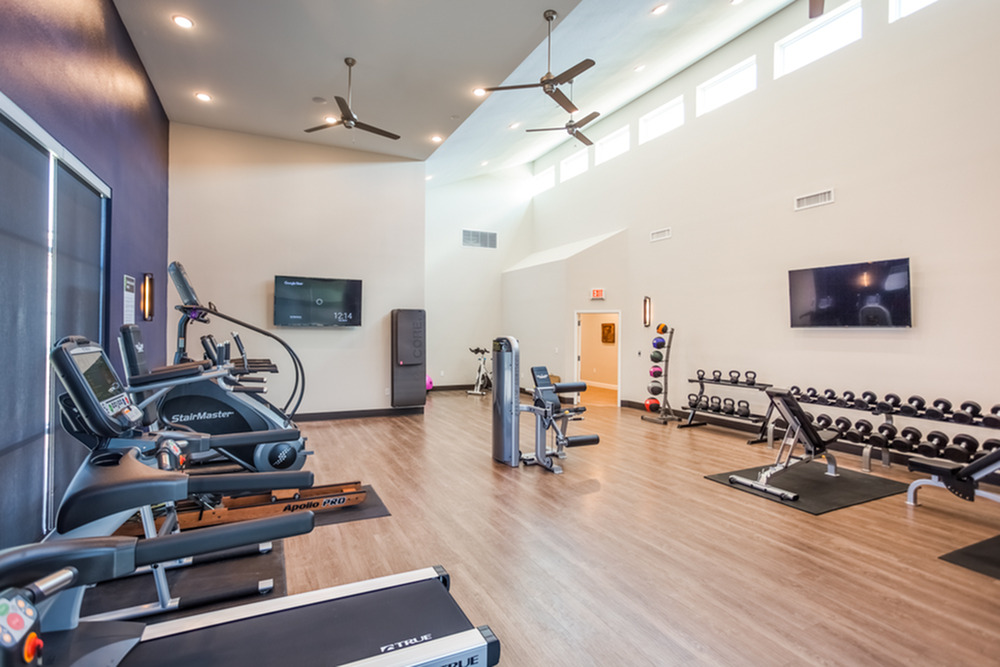 24-hour Fitness Center | Apartments In Kansas City | Kinsley Forest