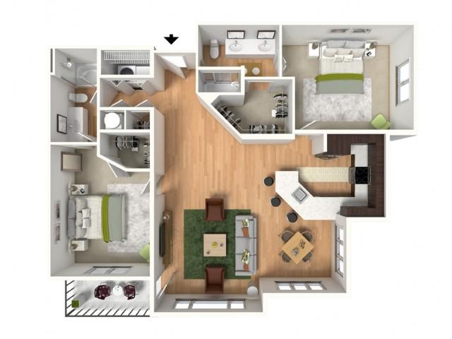 Floor Plan 2 | Lees Summit MO Apartments | Summit Square