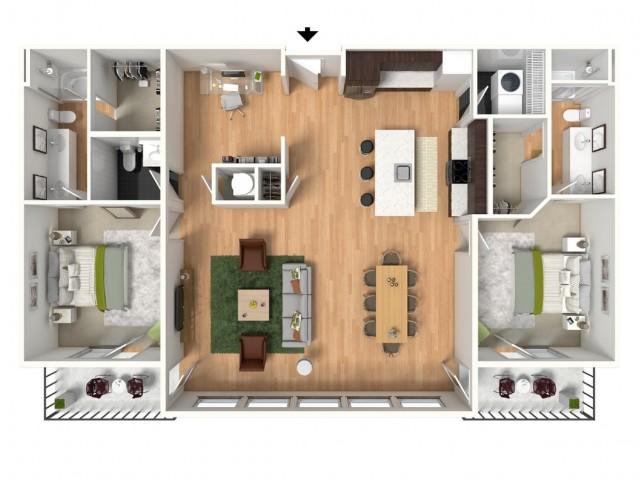 Floor Plan 4 | Lees Summit Luxury Apartments | Summit Square