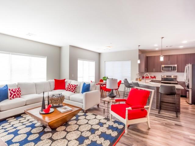 Elegant Living Room | Lees Summit Apartments | Summit Square