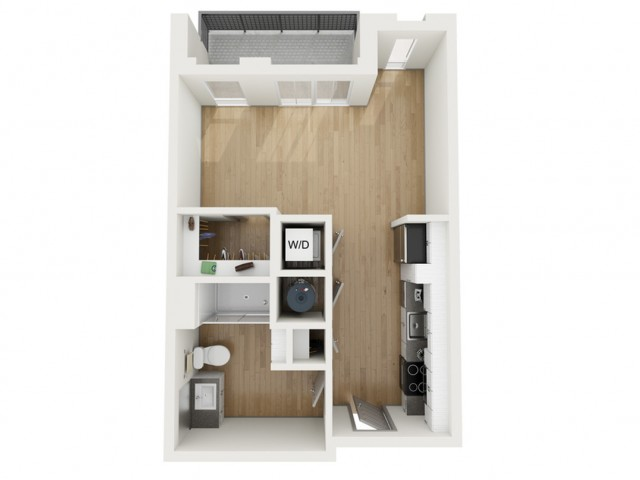 S4 Studio Floor Plan | 2501 Beacon Hill | Kansas City, MO Apartments