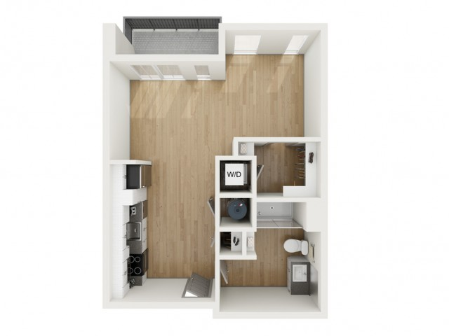 S2 Studio Floor Plan | 2501 Beacon Hill | Kansas City, MO Apartments