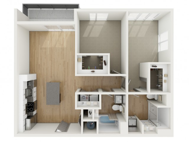 B10 Two Bedroom Floor Plan | 2501 Beacon Hill | Kansas City, MO Apartments