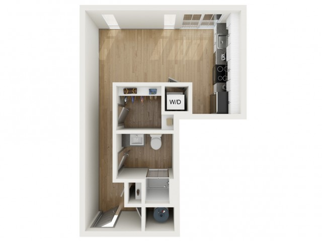 S3 Studio Floor Plan | 2501 Beacon Hill | Kansas City, MO Apartments