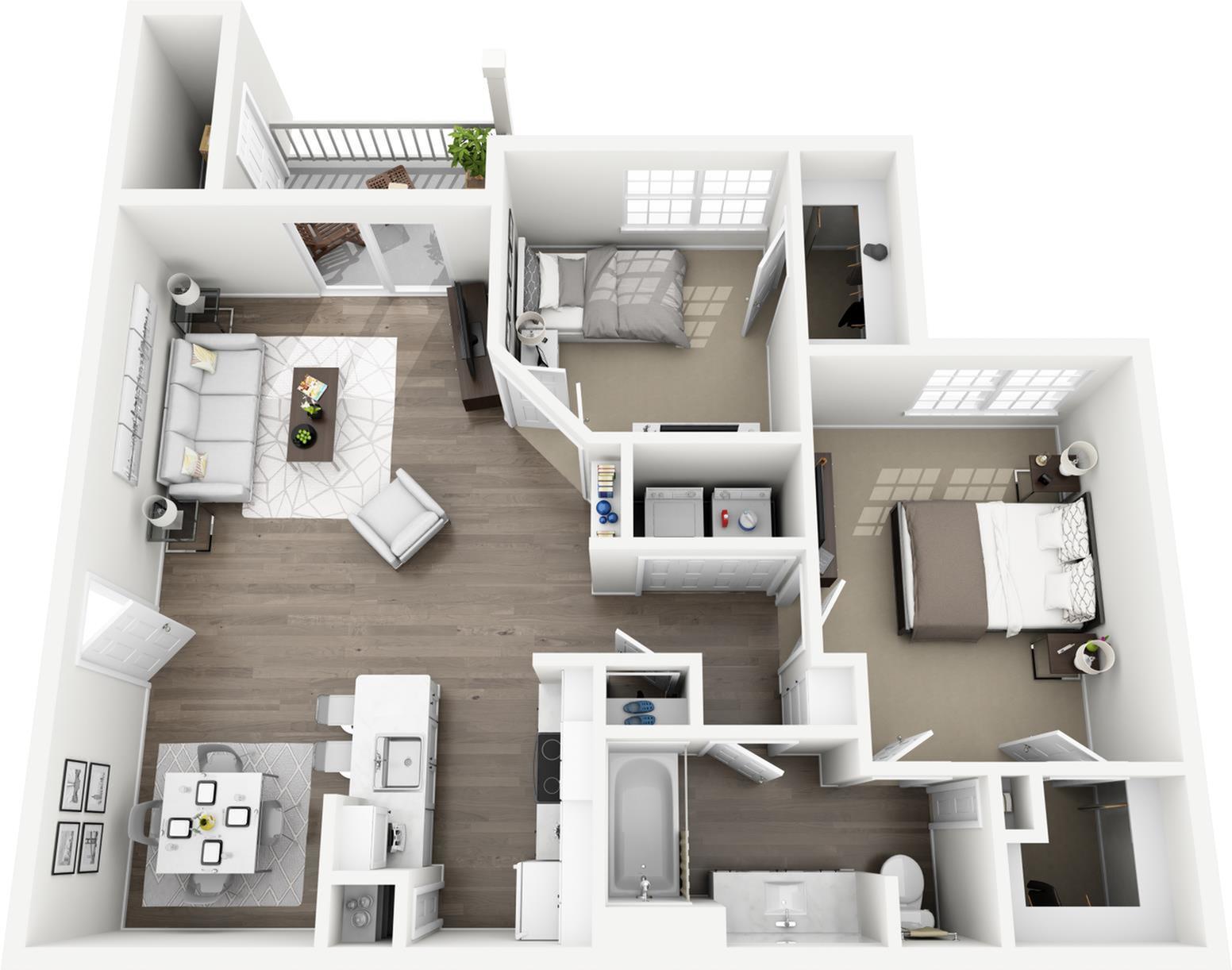 B1 - The Corrigan Floor Plan | Lexington Farms | Apartments in Overland Park, KS