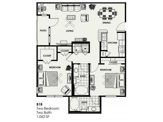 B1B | 1,062 sq ft