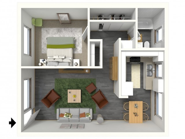 Laguna - 3D - Furnished View