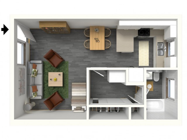 La Jolla - 3D - Furnished View