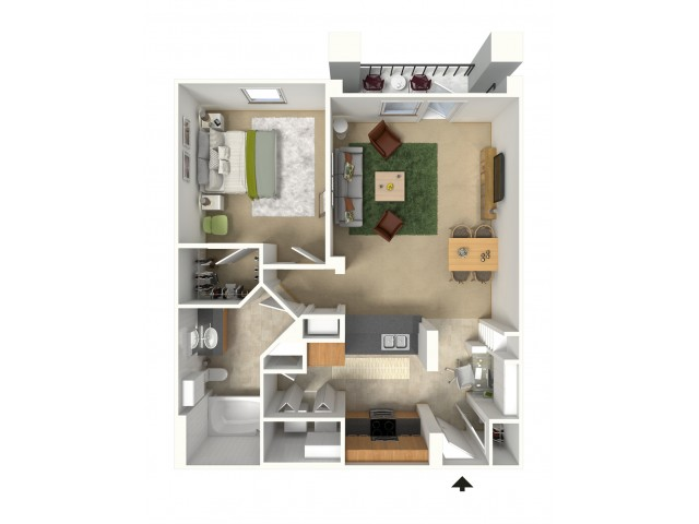 Ibiza 3D Furnished Floor Plan