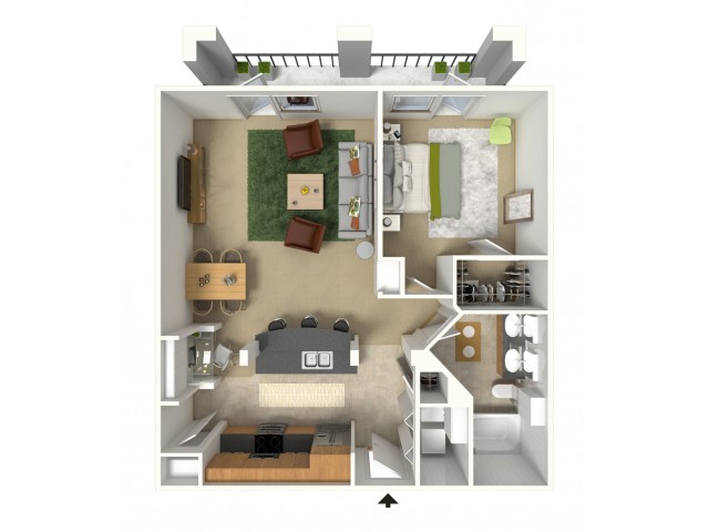 Marbella 3D Furnished Floor Plan