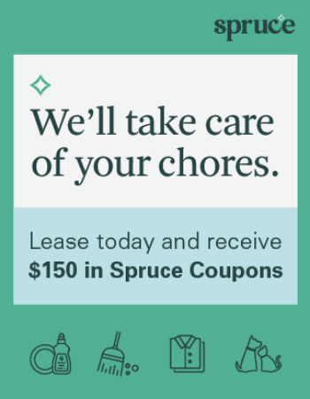 We've partnered with Spruce to help make your life easier! Spruce offers hassle free booking for pet care, chores, laundry, and much more! Ask our leasing team for more information!<br><br>
